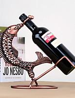 casier à vin en fer pur design vintage poissons