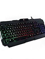 Breathing Lights USB Gaming Keyboard with Pad 2 Pieces a Set