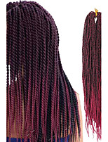 kanekalon cabelo entrançado sintético 24inch 1-12packs tranças senegalês dobrado torção carapinha cabelo de crochê trança