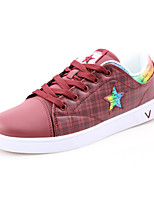 Scarpe da uomo-Sneakers alla moda-Casual-Di pelle-Nero / Rosso / Bianco