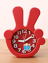 Creative Plastic  Mini finger  Desktop Needle Quartz Alarm Clock (Random Color)