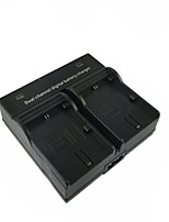 LPE6 EU Digital Camera Battery Dual Charger for Canon 5D2 5D3 6D 7D 7D2 60D 70D