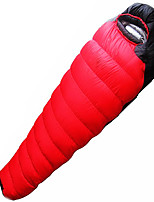 1500g Duck Down Nylon Lining Single Mummy Bag for Camping and Hiking