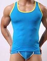 Masculino Camiseta Intima Masculino Seda Sintética