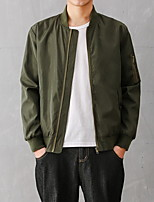 Men's  Fashion Casual  Zipper Jacket Baseball Uniform  Plus Sizes