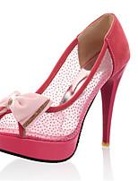 Women's Shoes Customized Materials Stiletto Heel Heels / Peep Toe Sandals Wedding / Party & Evening / Red / Beige