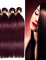 4PCS Brazilian Straight Hair Ombre Human Hair Weaves #99J Color Hair 12-24 inch Virgin Hair