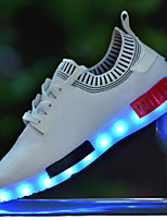 7 Colors  11LED flash mode  Luminous Flyknit Shoes Men Unisex Couple Sneakers Fashion Casual Flat Led Shoes Usb Charging