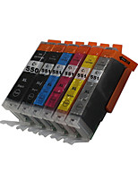 BLOOM®550BK+551BK/C/M/Y/GY Compatible Ink Cartridge For Canon MG5450/MG6350/MG6450/MG7150/MX925/MX725/IX6850/IP8750