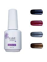 ILuve Gel Nail Polish Set - Pack Of 4 - Long Lasting 3 Weeks Soak Off UV Led Gel Varnish – For Nail Art #4033