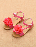 Girls' Shoes Dress / Casual Comfort / Round Toe / Open Toe Chiffon / Sandals Black / Red / Beige