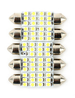 5PCS Civic 6W Car LED Width Lamp Car License Plate Lamp Car Reading Lamp White Color
