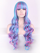 Cosplay Wig Japanese Original SuFeng Lolita Wigs Curl High Temperature Gradient Purple Silk Spot