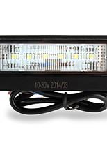 licencia placa con el número 6 SMD3528 llevó la lámpara de luz blanca para van coche camión de remolque