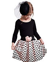 Girl's Black Dress,Dot Cotton Spring / Fall