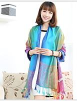 Ms. National Wind Fall And Winter Travel Vintage Jacquard Fringed Gradient Color Shawl Warm Sun Scarf
