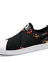 Men's Shoes Casual Fabric Fashion Sneakers Black / White / Multi-color