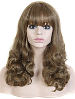 Top Quality Long Length Blonde Color Curly Synthetic Wigs