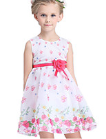 Girl's Multi-color Dress Cotton / Polyester Summer