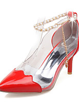 Women's Shoes Stiletto Heel/Pointed Toe Heels Party & Evening/Dress Green/Red/Beige