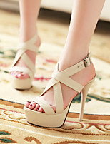Women's Shoes Heel Heels / Peep Toe / Platform Sandals / Heels Party & Evening / Dress / CasualAlmond / H-8