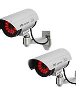 kingneo 2 stuks wit fake dummy dome CCTV-camera LED-licht
