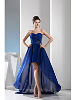 Formal Evening Dress-Royal Blue A-line Sweetheart Asymmetrical Chiffon