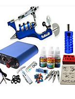 basekey tattoo kit jh554 1 draaiende machine met stroomaansluiting grips 3x10 ml inkt