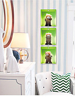 Animals Bear Wall Decals  Botanical Wall Stickers Plane Wall Stickers,PVC 33*99cm