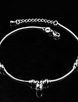Women's Fashion Platinum Plated Refille Anklets