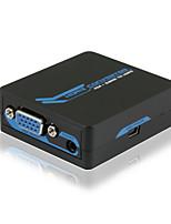VGA + Stereo to HDMI Mini Converter 1080p with CE FCC RoSH Certificates