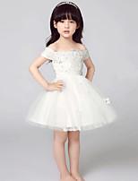 Детское праздничное платье-А-силуэт Короткое/мини Короткий рукав Тюль