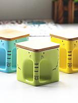 2pcs 350ml brève vogue créatrice de carré couverture en bois tasse comme la céramique tasse tasse pour le petit déjeuner (couleur