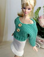 Poupée Barbie-Blanc / Vert-Informel-Jupes / Tops- enLaineux