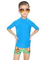 Ultraviolet Resinstant Tops Dive Skins for Kid Chinlon Long Sleeve