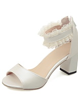 Women's Shoes Chunky Heel Open Toe Sandals Dress Blue / Pink / Beige