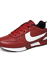 Men's Shoes Casual Leather Fashion Sneakers Black / Red / White