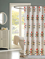 Country Floral Rectangle Shower Curtains 71x72inch,71x79inch
