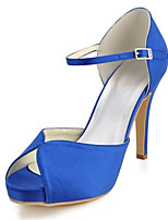 Women's Wedding Shoes Heels / Peep Toe Sandals Wedding / Party & Evening / Dress Royal Blue