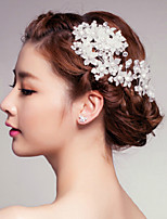 Tiny Flowers Crystal / Imitation Pearl / Plastic Headpiece-Wedding / Special Occasion / Outdoor Flowers