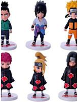 6Pcs/Lot Anime Naruto Action Figures Naruto/Kakashi/Gaara/Didara/Minato/Nara Shikamaru PVC Figure Toys