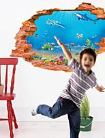 Animali / Paesaggio / Persone Adesivi murali Adesivi 3D da parete,pvc 60*90cm