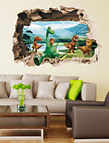 Animals wall sticker  Vintage wall decal Fantasy / 3D Wall Stickers 3D Wall Stickers,pvc 50*70cm