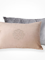 Polyester Pillow Cover , Embroidering Flower 2PCS