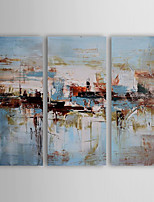 Oil Painting Modern Abstract Set of 3 Hand Painted Canvas with Stretched Framed