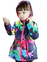 Girl's Green / Purple Jacket & Coat Polyester Spring / Fall