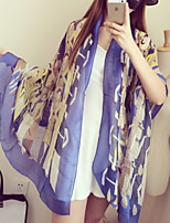 Women Fashion Shows Sunscreen Beach Cotton Scarves Rainbow-colored Scarf Shawl
