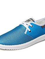 Men's Shoes Libo New Fashion Hot Sale Outdoor / Casual Blue / Brown / Gray Tulle Comfort Breathable Fashion Sneakers