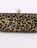 Women Metal / leatherette Minaudiere Clutch / Evening Bag / Wallet / Mobile Phone Bag / Checkbook Wallet-Gold / Silver