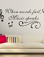 Mots & Citations / Romance / Mode / Abstrait / Fantaisie Stickers muraux Stickers avion,PVC M:42*85cm/ L:55*112cm